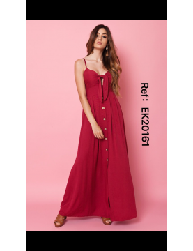 Vestido largo mussola botones - Selected by AINE