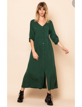 Vestido largo botones carey - Selected by AINE