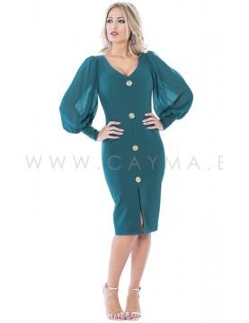 Vestido botones centrales - Selected by AINE