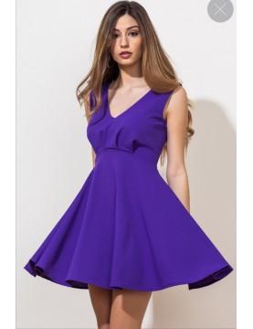 Vestido escote V falda vuelo lazo espalda - Selected by AINE