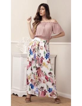 Falda larga flores -...