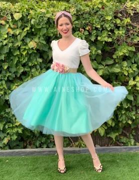 falda de tull de fiesta corta