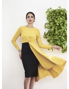 Vestido falda capa - AINE