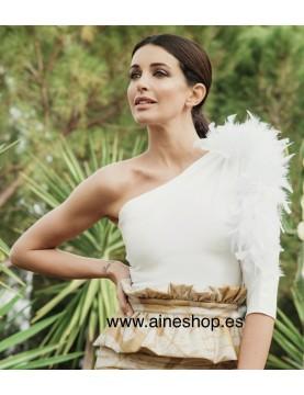 Top asimetrico plumas - AINE