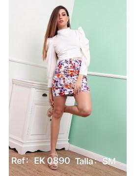 Mini falda fruncido...