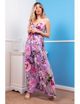 Vestido largo estampado - AINE