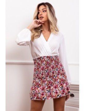 Vestido chiffon falda print...